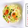 【呑んべいごはん。】野菜もりもり食べちゃおう!キャベツと半熟卵のマヨサラダ