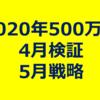 【4月検証&5月戦略】昨年は5月中盤からアルト大暴騰!「2020年1ビットコイン500万円説」4月30日時点の進捗検証(仮想通貨/暗号通貨)
