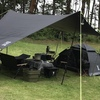 【キャンプ】テントサイトをブラックコーデしました。