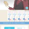 【お仕事】スマホアプリ『FINE!天気』の着せ替えイラスト「オトナ男性天気予報」。
