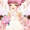 ゲーム「恋してキャバ嬢」のアバター♪ピンクの花嫁編