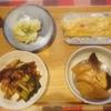 鰤大根、葱と豚肉、粉吹き芋、玉子焼き