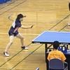 なつき選手の女子シングルス。2019 卓球インターハイ・鹿児島大会