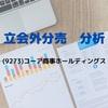 【立会外分売の分析】9273 コーア商事ホールディングス