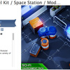 Sci Fi PBR Level Kit / Space Station / Modular Interior Enviromnent Pack 宇宙ステーション、研究施設の3Dモデルパック