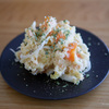 ポテトサラダはツルっとした芋とレンジフルパワーを活用すると少しだけ作るのが楽になる