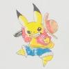 ピカチュウ✖ルフィ(武装色の覇気) ポケモン ONEPIECE コピック MATSU