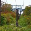 ロープウェー山頂駅~スキー場区間(秋雨前線の狭間での西吾妻山1)