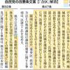 <自民党総裁選 改憲の行方>(4)参院選「合区」解消 矛盾放置 対立軸にならず - 東京新聞(2018年8月21日)