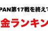 【2019JAPAN】第17戦結果と賞金ランキング
