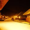 静かな冬の大内宿