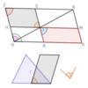 第1巻命題44 三角形に等しい平行四辺形の作図[角と線分を与えられた場合]