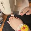 3. ベアウエストワンピース - 本縫い、裾ロック→手縫い(流しまつり)