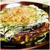 宇宙芋でふんわり+手作り濃厚ソース|キャベツたっぷりのお好み焼き