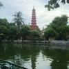 チャンクオック寺に、高い塔が。