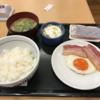 「なか卯」で朝ご飯