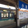しなの鉄道で篠ノ井駅到着 2015/12/20