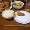 鶏の唐揚げを夕食に決定!山椒を振り掛けて風味豊かな美味しさ