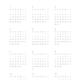 年間カレンダー 2020年版