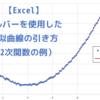 【Excel】ソルバーを使用した近似曲線の引き方(2次関数の例)