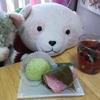うぐいす餅と桜餅とジェラトーニとさくらパンダ♪