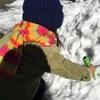 カチカチ雪遊び