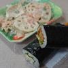 中巻き(ヒレカツ・エビフライ)+れんこんサラダ(ごま風味)
