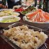 ●片柳コミュニティセンター災害ボランティアの野菜料理