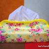 黄色の花柄 ティッシュカバー