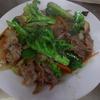 幸運な病のレシピ( 1823 )朝:豆腐ホロホロ、ブロッコリーと牛肉の蒸し炒め、塩サバ、味噌汁、マユのご飯