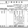 株式会社NTTドコモ・ベンチャーズ 第11期決算公告