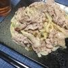 豚こま肉と長ネギの塩焼きうどん