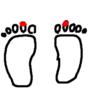 両足の爪が。。。