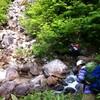 錫杖岳中央稜クライミング