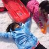 星野温泉スキー場で雪遊び
