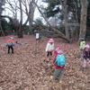 屋敷林の落ち葉と子どもたち