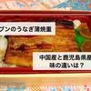 【食べ比べ】セブンイレブンの中国産うなぎと鹿児島県産うなぎの味の違いを実際に確かめてみた