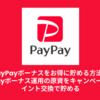 PayPayボーナスをお得に貯める方法。PayPayボーナス運用の原資をキャンペーンやポイント交換で貯める