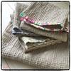 手作り、リネンワッフルでバスタオル&洗面所のタオル