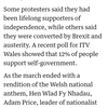 some ~, others ...の構文(ウェールズで初の独立要求デモ)