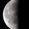未明の半月(月齢21.917)