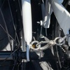 ホームセンターで、折りたたみ自転車を固定する金具を仕入れてきた