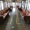 大阪メトロ谷町線の22系のリニューアル車両の車内です!