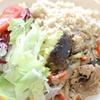 米ナスとゴーヤの豚味噌炒め