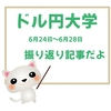 FX『ドル円大学』為替航海図・週間分析6/24日~6/28日の振り返り