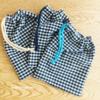 【100均ダイソー*はぎれとカラーひもの使い方】シンプルな巾着袋を作りました