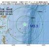 2017年10月01日 15時40分 三陸沖でM3.3の地震
