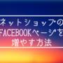 ネットショップのFacebookページのファンをゼロから増やす3つの方法