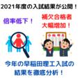 【早稲田理工2021】基幹&先進理工で6年ぶりに補欠合格者が出た!?