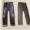 【ジーンズ穿き込み】UNIQLO セルビッチクラシックフィットジーンズを穿き込む。[321-173890]